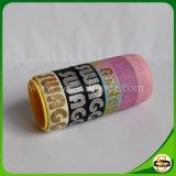 Braccialetto del silicone di buona qualità con stampa di seta