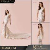Платье венчания Mermaid высокого качества Гуанчжоу горячее продавая дешевое