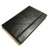 Le carré de la page A5 de la grille Journal écrit en cuir pour ordinateur portable de PU