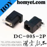 Corrente continua Compiacente del connettore di CC di RoHS 2.0/2.5mm Jack con il foro diretto