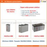 a válvula de 2V 1500ah regulou a bateria de armazenamento para o sistema da fora-Grade