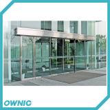 Автоматическая стекла боковой сдвижной двери SS304 Кадр полный комплект для банков, нефтяных станции, коммерческих зданий