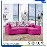 Hauptmöbel-Gelb-echtes Leder-Sofa in China mit Sofa-Bett