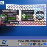 Auto-adesivos personalizados cores resistentes à água etiquetas com holograma de segurança