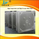 Placca a pressione resistente a temperatura elevata del filtro dell'olio