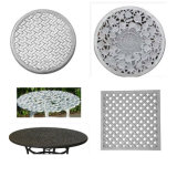 Sand-Gussaluminium für Tisch und Stuhl