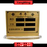 2017의 새로운 디자인 카지노 장식 못 부지깽이 테이블 한계 부지깽이 테이블 게임 내기 한계 표시 카드 (YM-LC06)