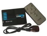 4K*2K HDMI Schakelaar, 5 in-1 Switcher met zeer belangrijk-pers-Schakelt Functie en de Afstandsbediening van IRL