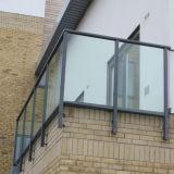 De forma plana Toughend barandilla de cristal del balcón de 10mm 12mm Precio
