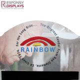 PVC annonçant le Lamelle-Mur d'arc-en-ciel de crémaillère en métal de panneau avec le logo d'impression