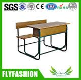 Bureau d'élève de double de mobilier scolaire et banc en bois durables (SF-36D)