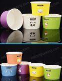 Nueva taza de papel disponible impresa del helado de la venta de la llegada aduana caliente