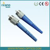 Conector de cable óptico de la fibra del solo modo 2.0m m de los conectores FC de fibra para una pérdida más inferior