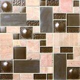 Mattonelle di pavimento di cristallo di prezzi bassi di serie del mosaico per la stanza da bagno