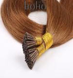 Duim I van het Haar van de Lijm van de Keratine van Wholesael Bruine 16 de Uitbreidingen van het Haar van het Uiteinde
