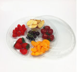 Диск решетки подноса 6 пластичный упаковывать коробки плодоовощ отрезока свежих фруктов устранимый прозрачный Vegetable