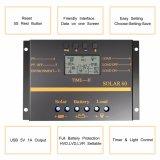 регулятор S60 обязанности батареи панели солнечных батарей управлением 60A 12V/24V Light+Timer