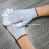 ESD de Met een laag bedekte Handschoen van de Vezel Pu van de Koolstof Vinger voor het Herstellen van Mobiele Telefoon