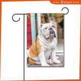 安い価格の屋外の装飾的なカスタムロゴ犬映像の飛行の印刷の庭のフラグ