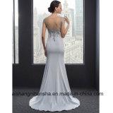 O laço Appliques o vestido de casamento elegante da sereia do vestido formal