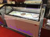 Congélateur de haute qualité de glace/usine italienne d'OEM de congélateur d'étalage de crême glacée