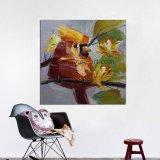 Comercio al por mayor hechas a mano de pintura decorativa arte de la pared de lienzo de aves para la reventa