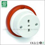 Aislador de la porcelana para el interruptor y el socket retros
