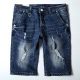 Средняя длина синие джинсы с сломанных мойки для Man (HDMJ0036-18)