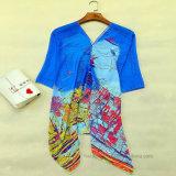 Dünnes Polyester-Chiffon- gedruckter Strand-Kimono (Hz96)