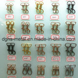 鎖カラー袋(Hsg0022、0023)のための熱い販売亜鉛合金ペット旋回装置のスナップのホック
