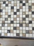 China pulió y afiló con piedra el mosaico de mármol blanco para el azulejo de la pared