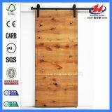 Portas de celeiro plásticas moldadas da madeira contínua do toalete exterior