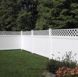 Populaires de clôture de la vie privée en vinyle de style américain avec le Haut Accent en treillis