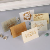 Design personnalisé de haute qualité de l'impression de papier kraft de carte de voeux