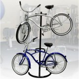 Visualizzazione professionale del basamento del metallo della cremagliera di memoria della bici