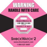 Het roze 5g Zelfklevende Etiket van de Sticker van het Karton van de Waarschuwing van de Veiligheid