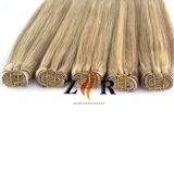 Weave indiano reto de seda do cabelo de Remy do Virgin da cor do destaque