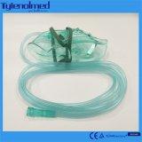 Máscara de oxigénio do PVC da Médico-Classe para respiradouros da boca
