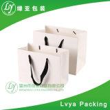 Heißer Verkauf gedruckter weißer Packpapier-Beutel mit Griff