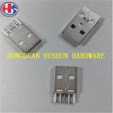 Горячее разъём-вилка разъема USB сбывания в латуни/утюге (HS-CM-002)