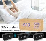 Индикатор древесины письменный стол с часами температуры для рекламных подарков
