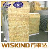 高い絶縁体のグラスウールのパネル、壁のための耐火性のグラスウールサンドイッチパネル
