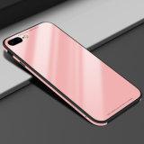 metal do vidro Tempered da Gota-Prova do caso do iPhone para o iPhone 8