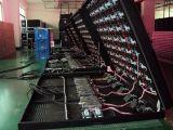 Tela comercial tomada o partido dobro do diodo emissor de luz P8 com acesso dianteiro