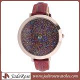 Nuevo estilo marcado especial en el clásico reloj de acero inoxidable, resistente al agua Reloj de cuero