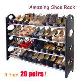 Heißer Verkaufs-preiswerter Schuh-Zahnstangen-Organisator 4, 6, 8, 10 Reihe-großer Schuh-Schrank