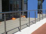 Pasamano al aire libre del cable del acero inoxidable del diseño