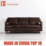 Schnittbrown-Farben-echtes Leder-Sofa-gesetzte Möbel für Haus