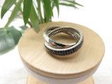 Prodotti dell'anello di diamante nero della traversa della fabbrica dei monili della pietra preziosa