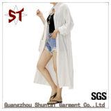 Тенниска пальто солнцезащитный крем способа женщин длинняя